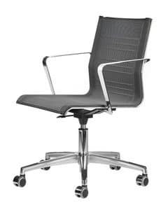 KEYPLUS 3152, Task chair with wheels, chromed metal frame