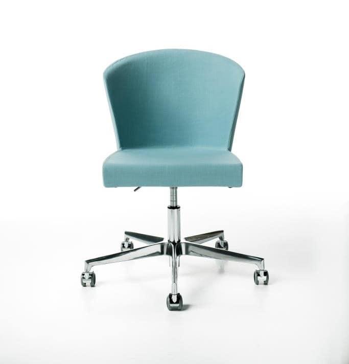 Kontè gas, Height adjustable chair, on castors