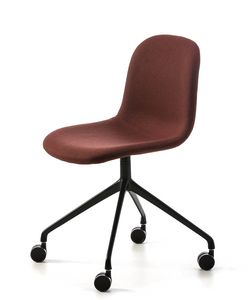 M�ni Fabric HO-4, Chair with wheels, covered in fabric