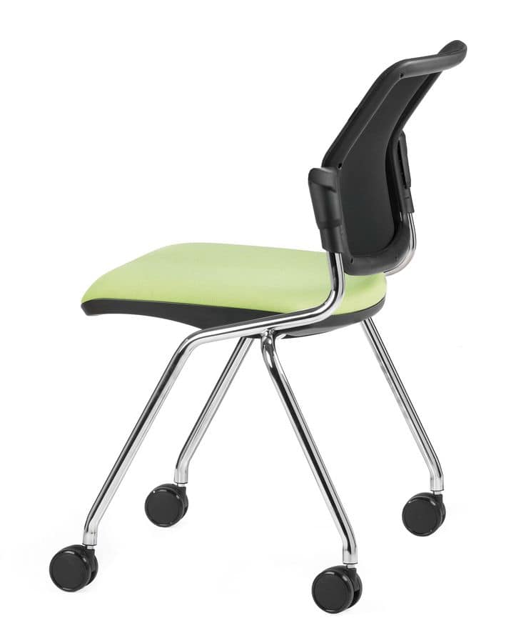 NESTING DELFINET 073 R, Operational office chair with 4 legs with wheels