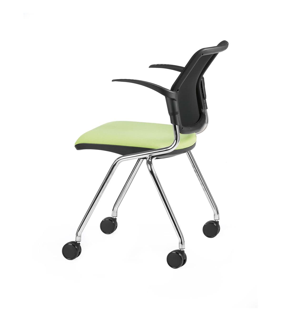 NESTING DELFINET 074 R, Chair with wheels and armrests ideal for operative offices