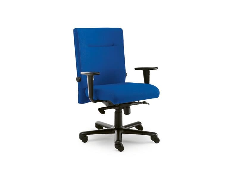 Non Stop task 24hc 51100, Squared chair covered in fabric, for office