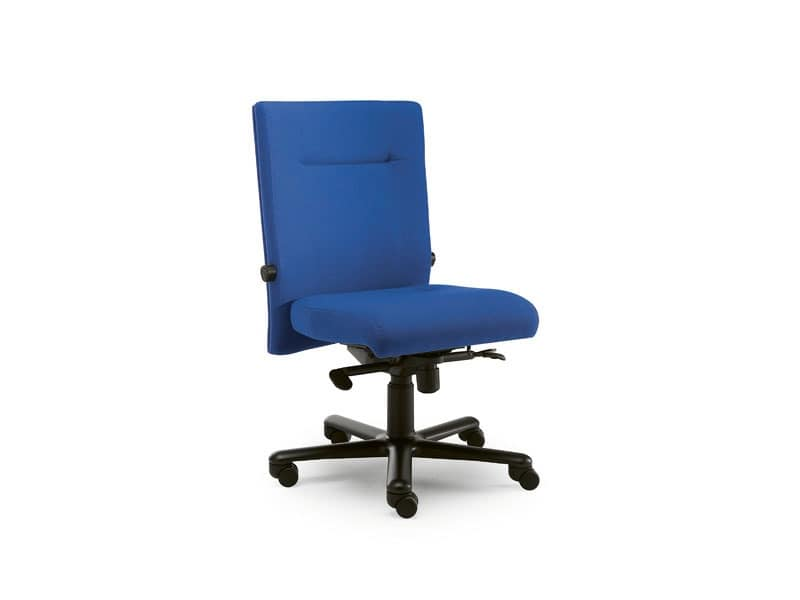 Non Stop task 24hc 51102, Office chair covered in fabric, without armrests