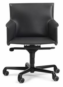 Pasqualina swivel armchair 10.0092, Office chair on castors, with adjustments