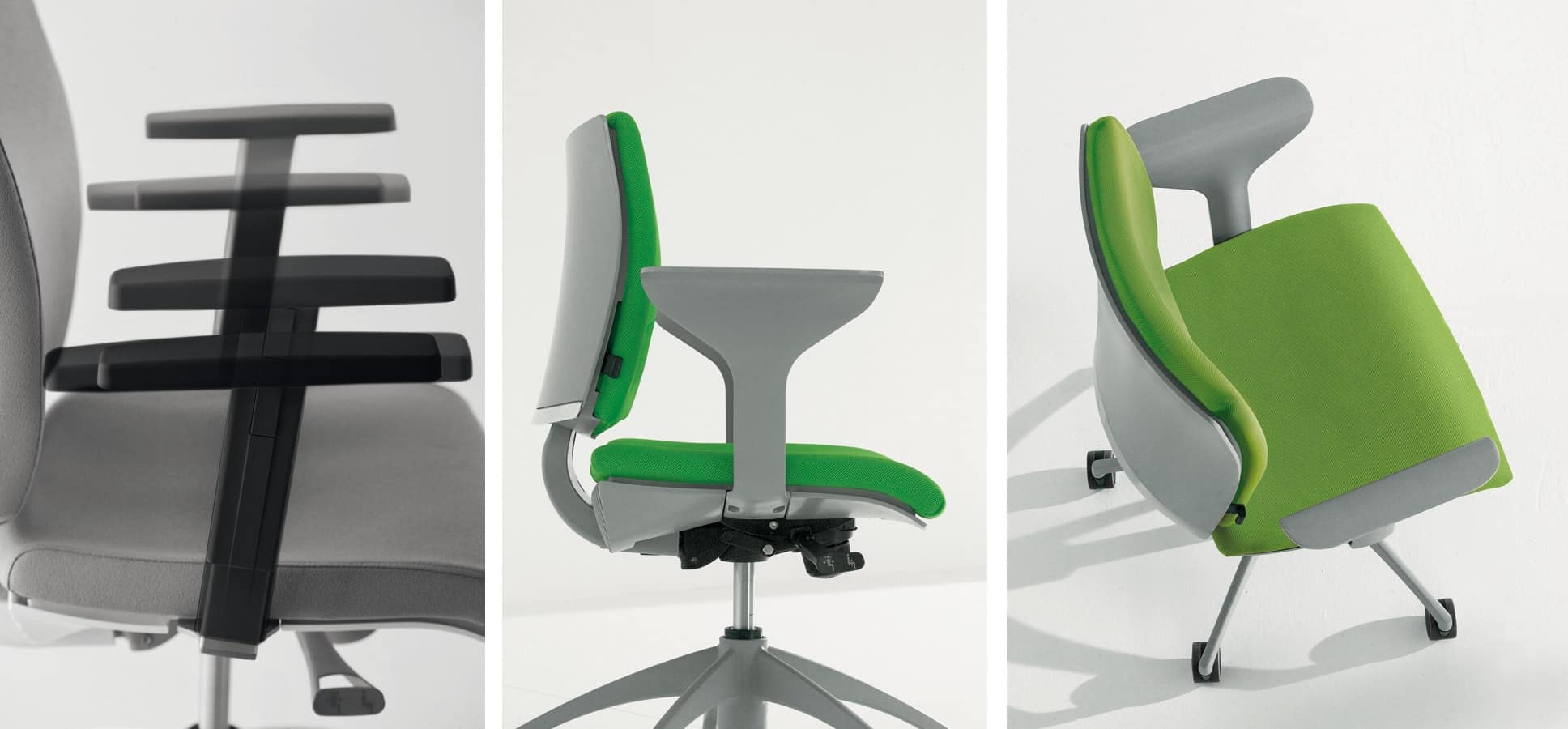PIXEL, Padded task chair for office and reception