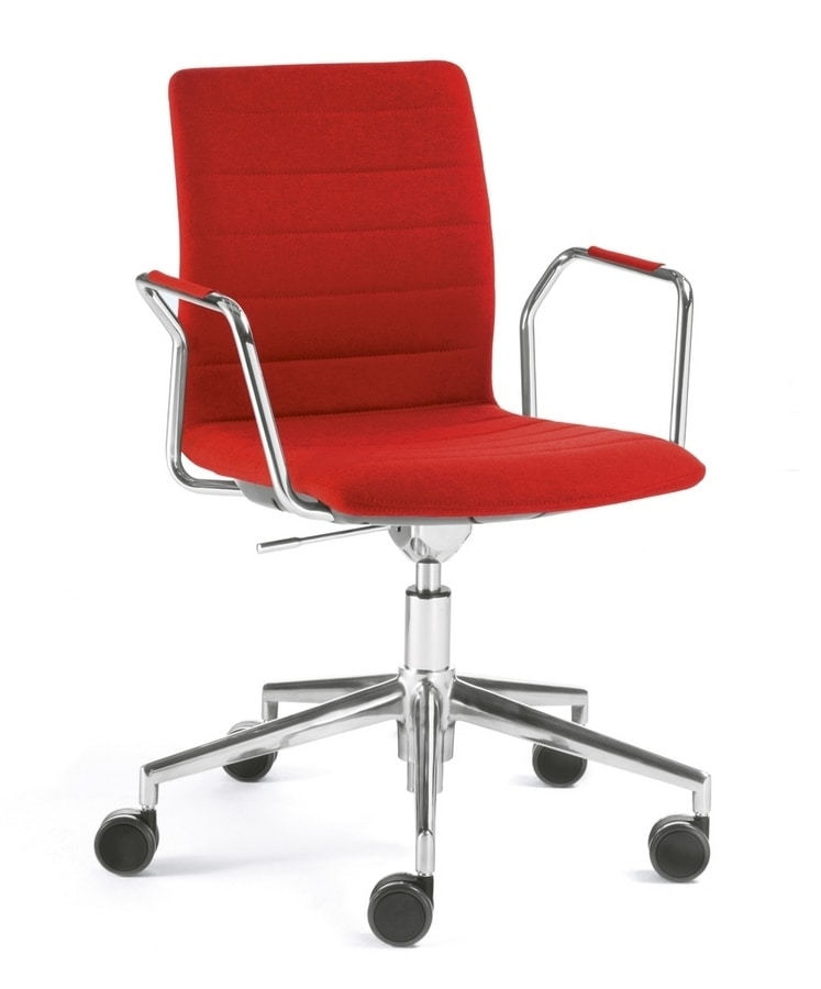 Q2 IM, Swivel chair on castors, equipped with writing tablet