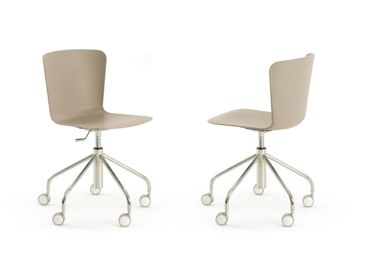 s25 vittoria, Chair with swivel wheels