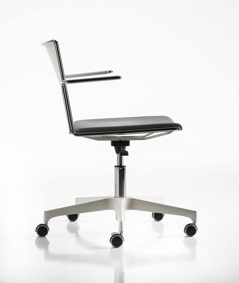 Slim gas, Chair ideal for meeting rooms and as desk chair for bedrooms