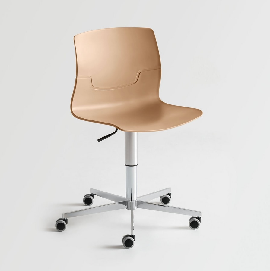 Slot Fill 5R, Swivel chair with wheels, for modern office