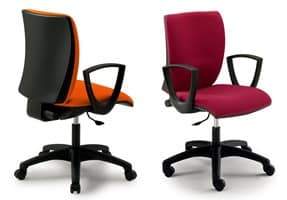 Sprint 17977-N, Task chair for office with armrests, various finishes