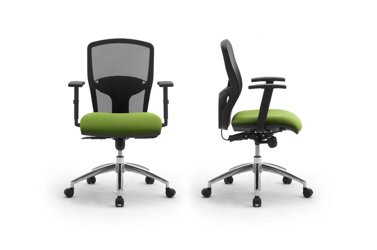 Sprint RE 179262R, Office chair with armrests and backrest in mesh