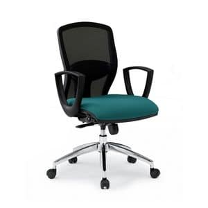 Sprint RE 179282R, Office chair with padded seat and backrest in mesh
