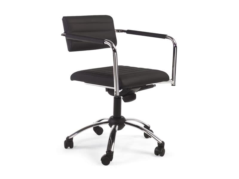 Tiani 02/4, Armchair for office, adjustable height and backrest