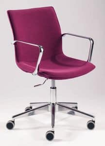 UF 180, Task chair with wheels and armrests, for contract use