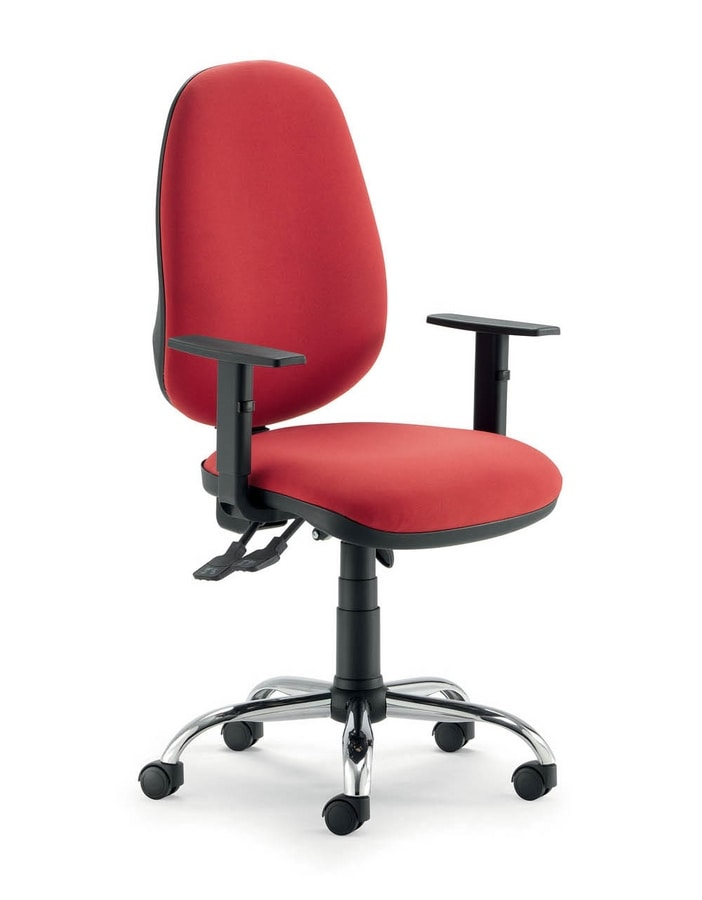 UF 315, Chair with wheels and synchro mechanism, in various colors