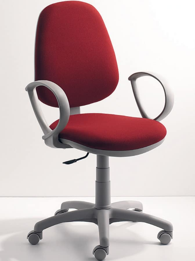 UF 323, Ergonomic task chair with armrests, for office