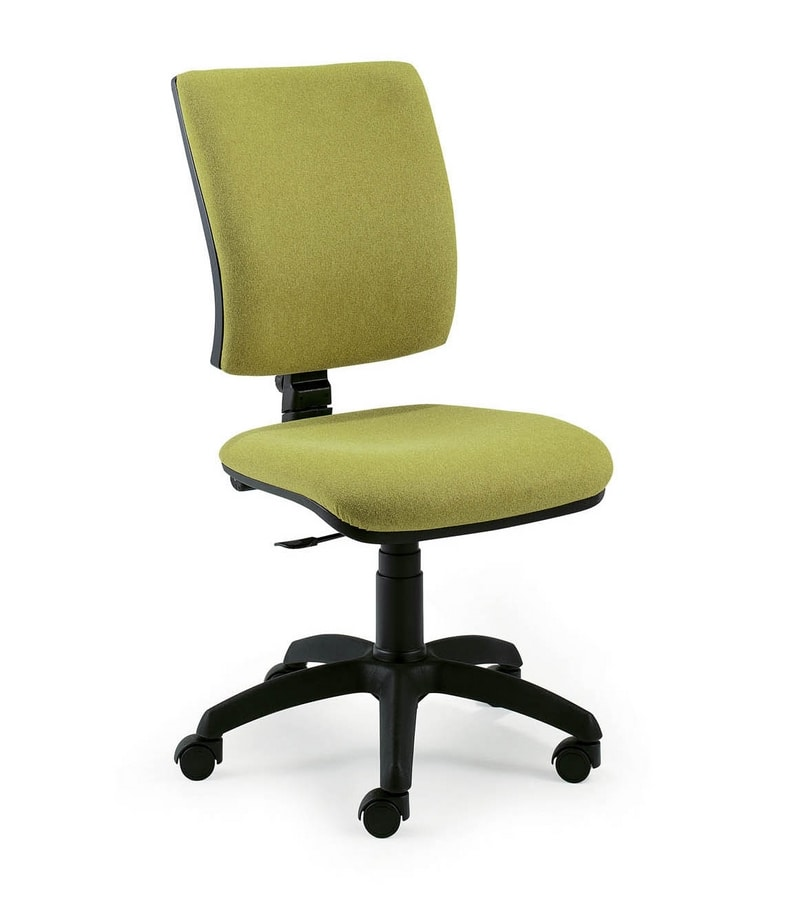 UF 334 B, Task chair upholstered, ergonomic and squared