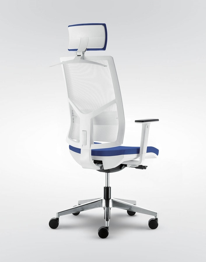 UF 432 A, Chair for office with wheels, with various adjustments