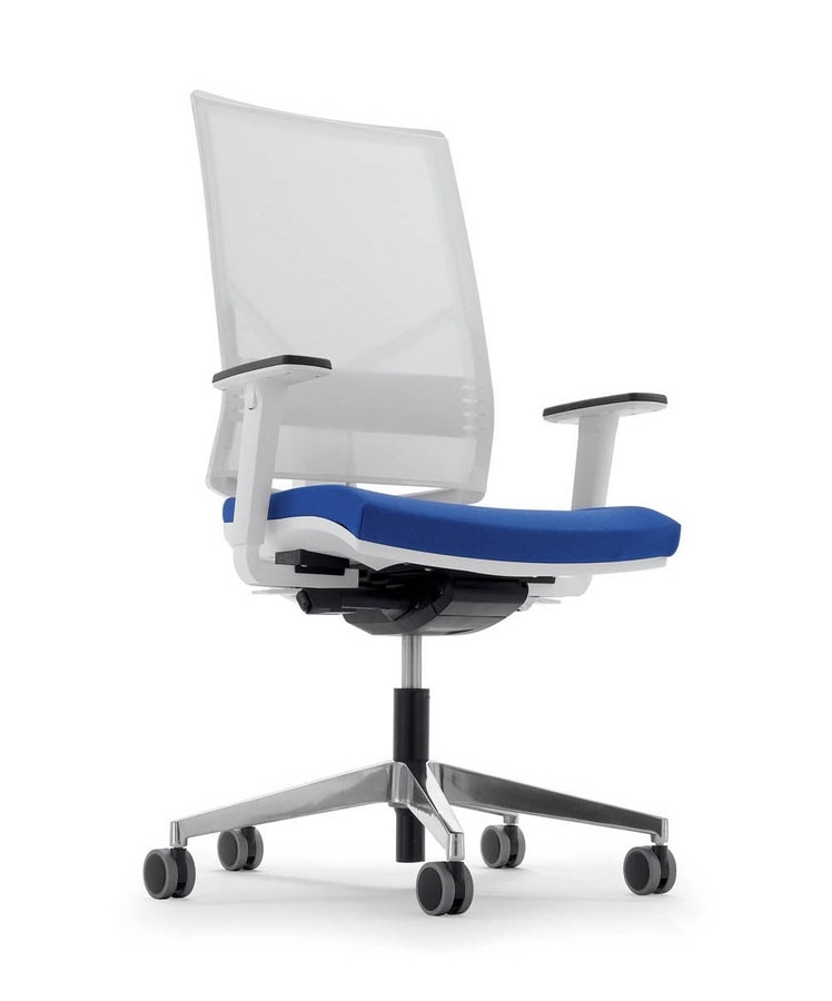UF 433 / B, Office chair with net, with square lines