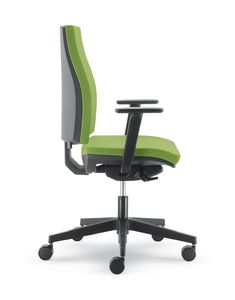 UF 441 B, Silent office chair with wheels, coated nylon