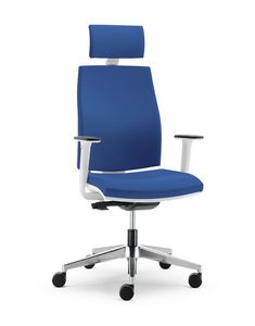 UF 442 A, Soft chair with nylon shell, for modern office