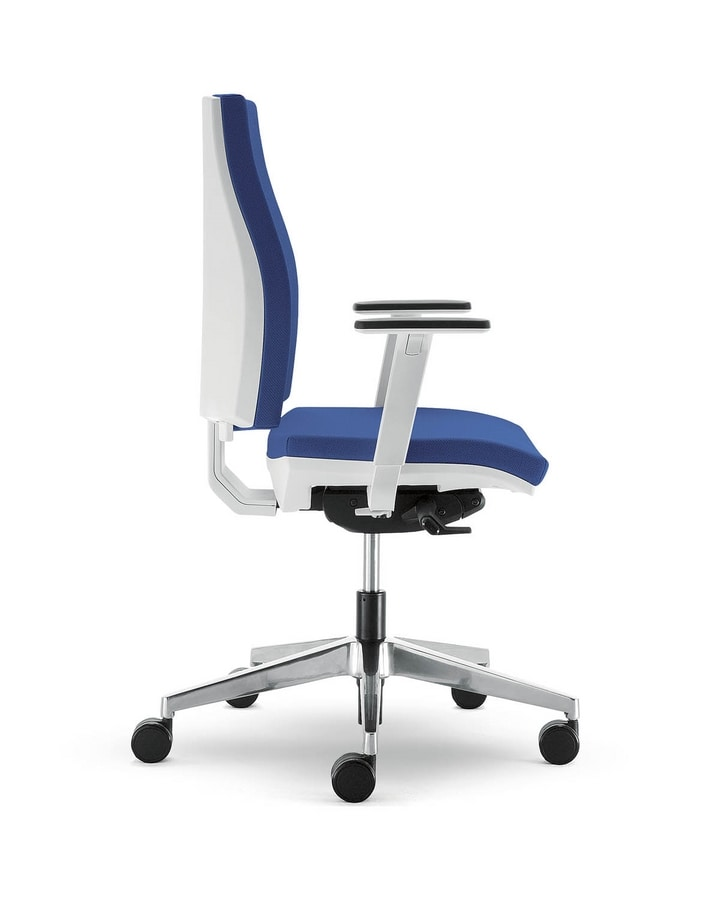 UF 443 / B, Office chair with wheels, in nylon and aluminum