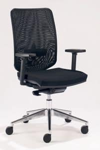UF 458 B, Task office chair with mesh backrest and lumbar support