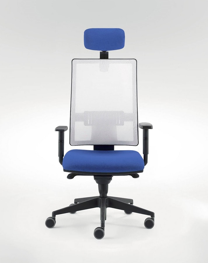 UF 491 A, Chair for modern office with sliding-seat system