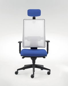 UF 491 / A, Chair for modern office with sliding-seat system