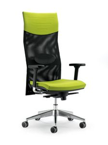 UF 496 / A, Task chair with high mesh backrest, solid