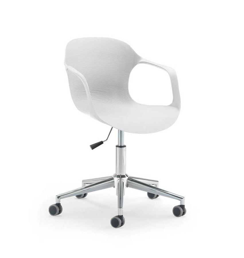 UF 853 / B, Chair on castors, adjustable in height