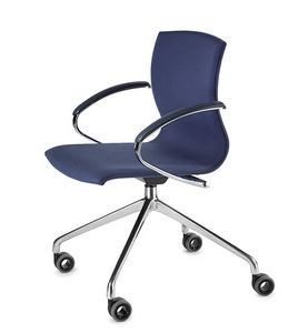 WEBWOOD 368ZR, Chair on wheels, chrome base