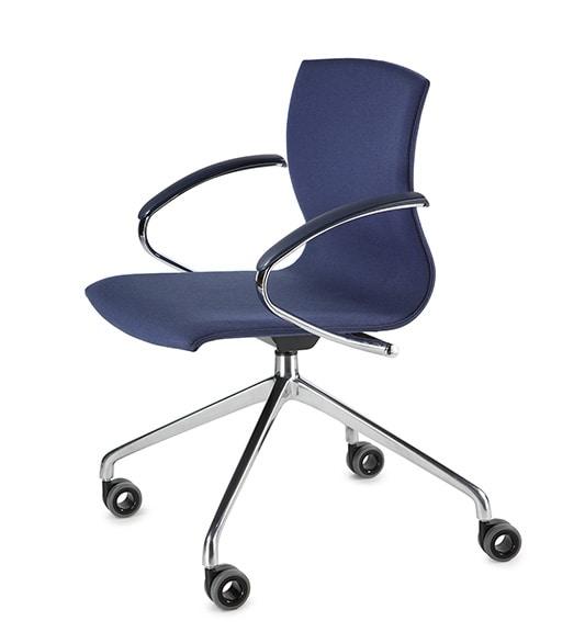 WEBWOOD 368ZR, Chair on wheels, chrome base