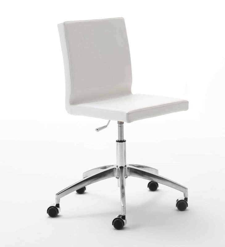 Zip, Task chair for office, aluminum base with wheels