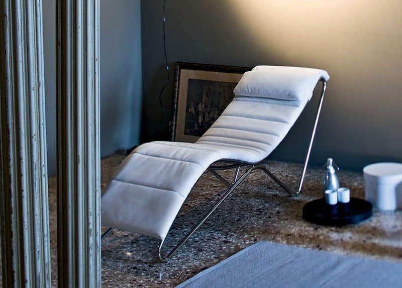 Chaise Longue Ufficio.Chaise Longue With Upholstered Seat And Headrest Idfdesign