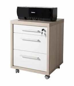 Chest of Drawers With Wheels 3 Drawers For Office And Modern Design Studio DAVINCI, Chest of drawers with wheels for office