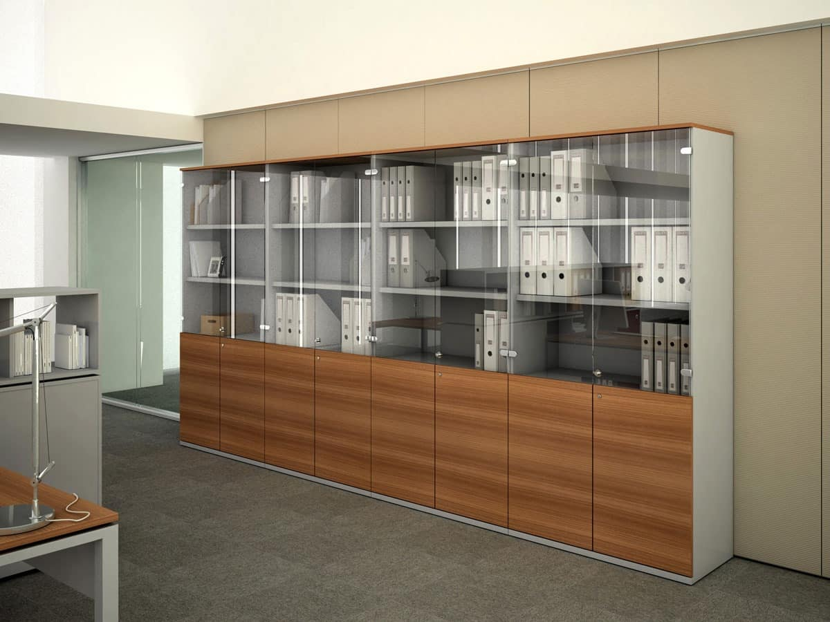 File Wood Wooden Cabinets For Office Storage Units