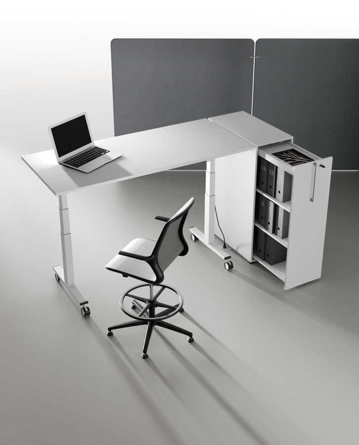 Tolomeo, Elegant office drawer unit