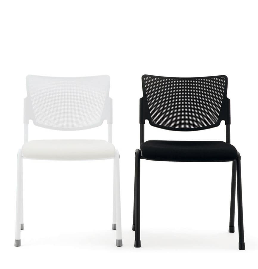 UF 104, Padded folding chair with perforated plastic back
