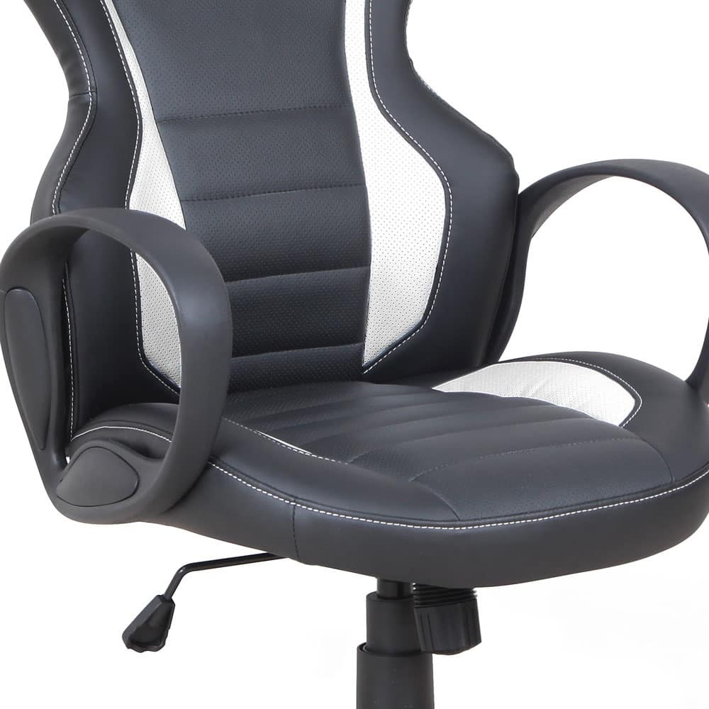 Armchair racing chair ergonomic Presidential office - SU091RAC, Ergonomic chair, in eco-leather, in sport style