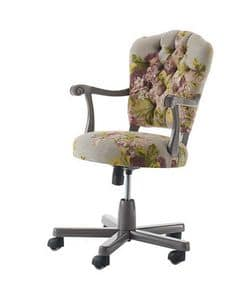 Art. AX413, Office swivel chair, with floral decorations