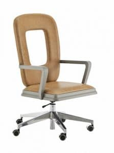 Art. VL414, Swivel office chair, with perforated back
