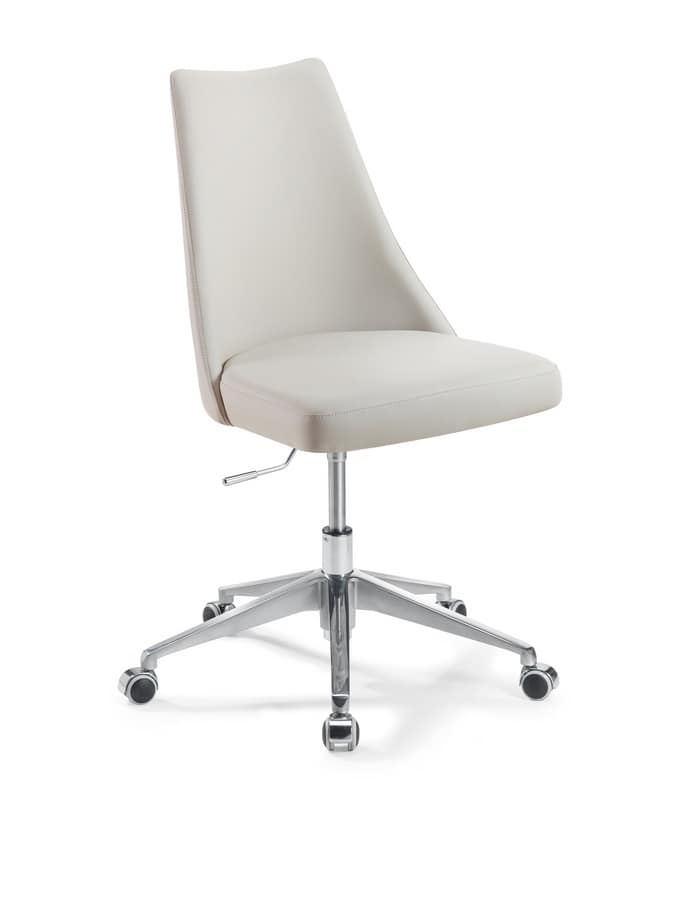 Biancade Office, Chair with wheels and adjustable lift, solid and comfortable