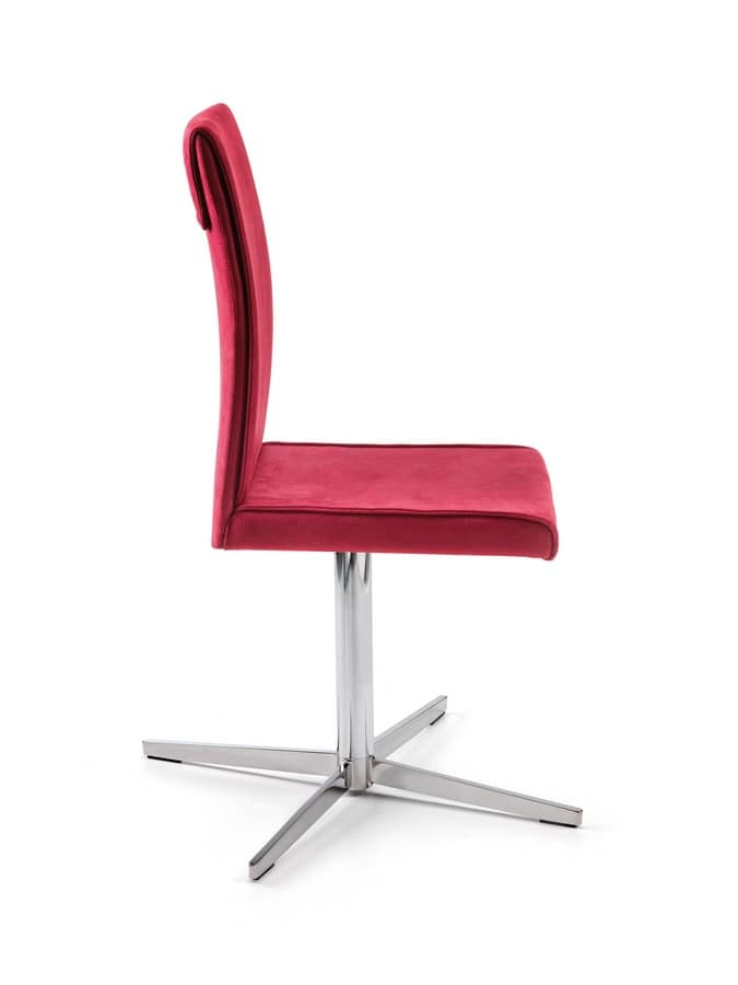 Borso Office, Swivel chair for the office, covered with nubuck
