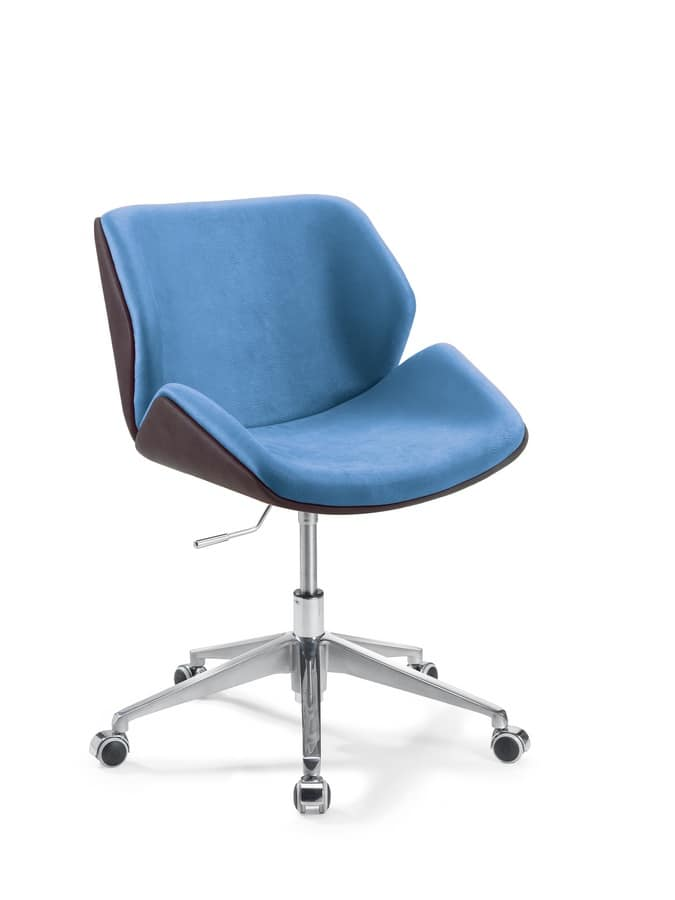 Codognè Office, Office chair with wheels, upholstered in faux leather
