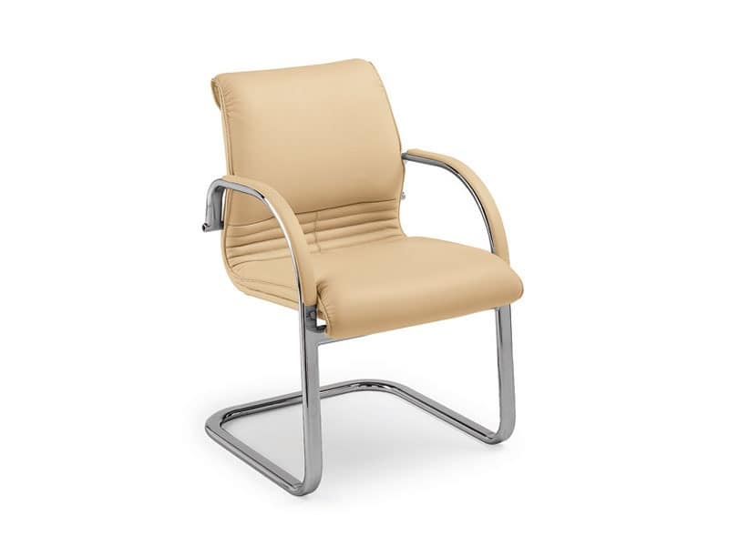 Elegance guest 2896, Office armchair covered in leather