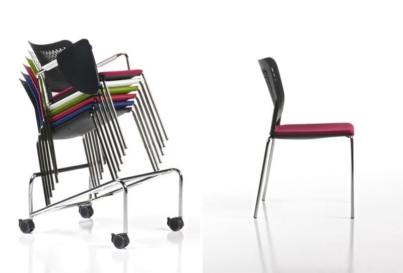 Ice, Stackable chair for conference and congress rooms