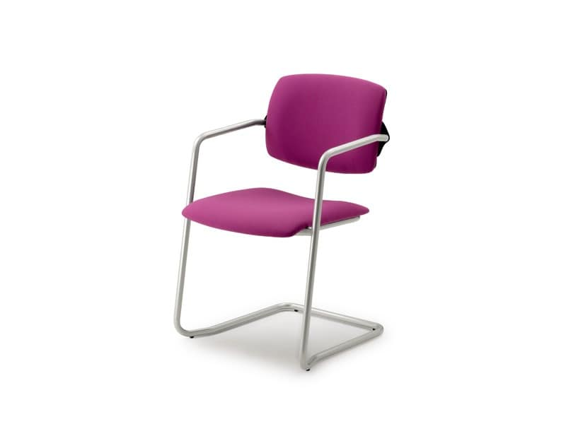 Laila 0585, Stackable chair for office, with sled base