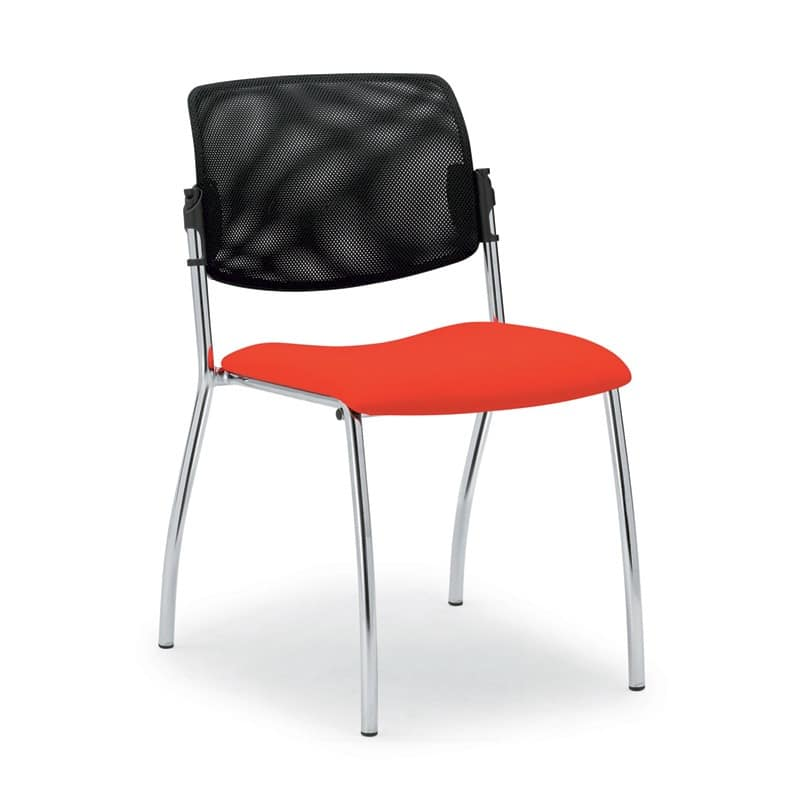 Laila 0588L, Chair with mesh backrest, for meeting rooms