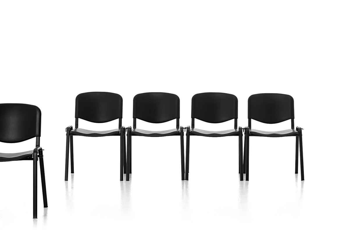 Leo Plastic, Metal chair, seat and back in polypropylene